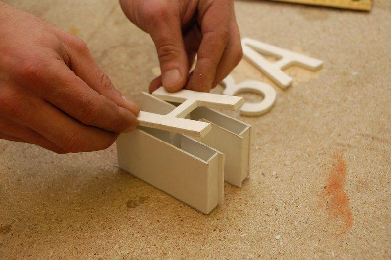 Объёмные буквы из пластика своими руками